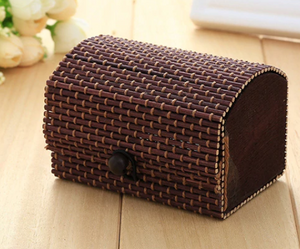 Vintage Bamboo Gift Box - Dark Coffee