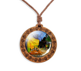 Wooden Necklace - Cabochon Jewelry - 6