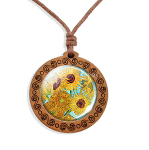 Wooden Necklace - Cabochon Jewelry - 2