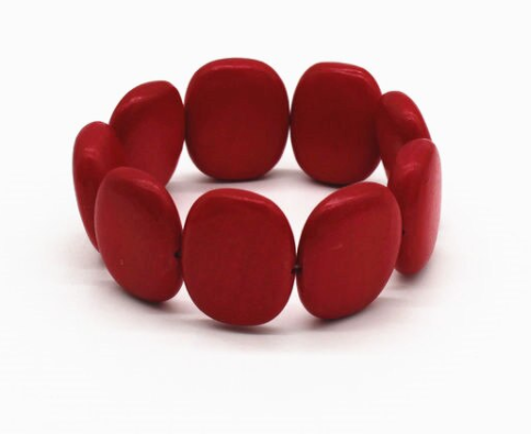 Red Wooden Fashion Bracelet for Women - Lead and Nickle Freee