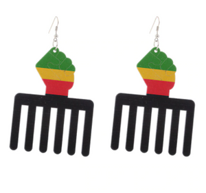 Wooden Earrings brown Hollow African style Earrings for women