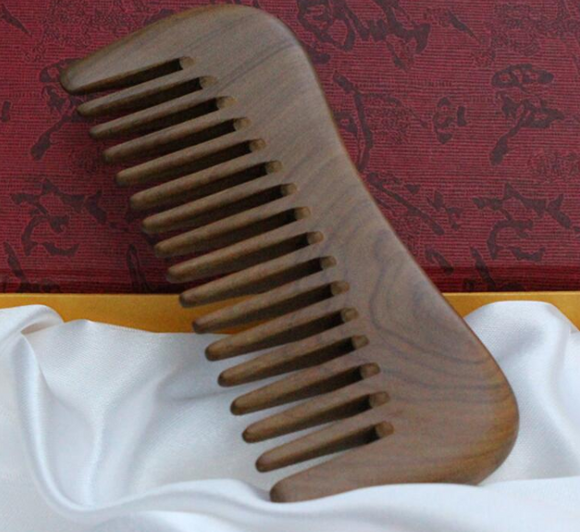 Natural Golden sandalwood Comb - Wide Tooth