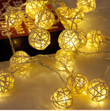 LED String Fairy Christmas Lights (made of Rattan)