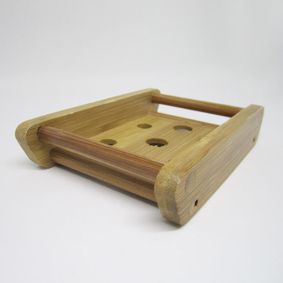 Natural Bamboo Soap Container - Cradle Dots