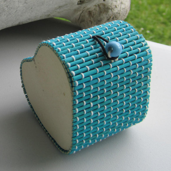 Heart Shaped Bamboo Gift Box - Blue