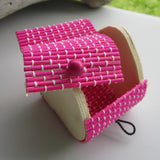 Heart Shaped Bamboo Gift Box - Pink