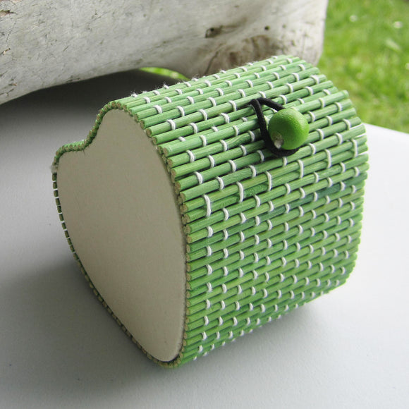 Heart Shaped Bamboo Gift Box - Green