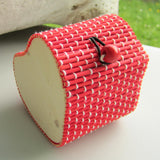 Heart Shaped Bamboo Gift Box - Red