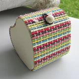 Heart Shaped Bamboo Gift Box - Multicolour