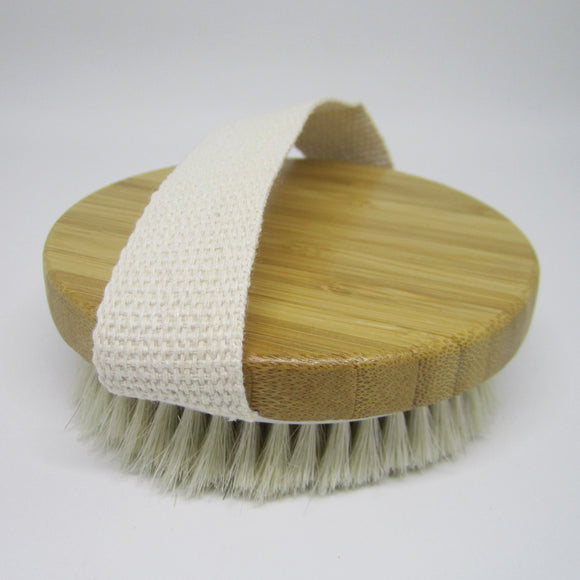 Natural Sisal Exfoliating Wooden Bath Brush - ROUND