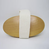 Natural Sisal Exfoliating Wooden Bath Brush - OVAL
