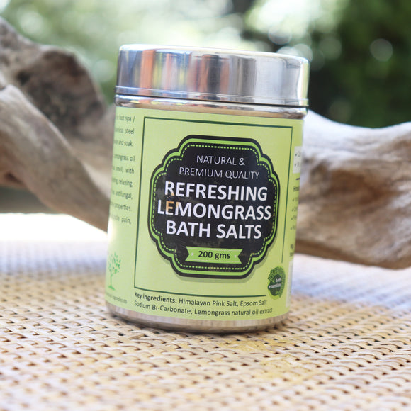 RIMURIMU Pure & Natural Refreshing Lemongrass Bath Salts