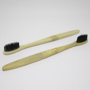 2 x Bamboo Tooth brush with charcoal bristles (BPA free)