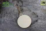 Christmas Tree Hanging Wooden Ornaments - Round
