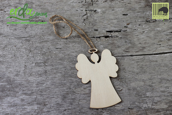 Christmas Tree Hanging Wooden Ornaments - Angel