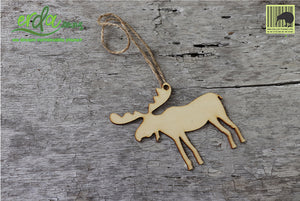 Christmas Tree Hanging Wooden Ornaments - Reindeer