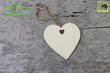 Christmas Tree Hanging Wooden Ornaments - Heart