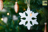 Christmas Tree Hanging Wooden Ornaments - Snowflake