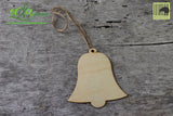 Christmas Tree Hanging Wooden Ornaments - Bell
