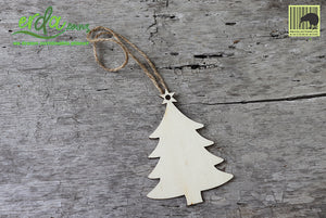 Christmas Tree Hanging Wooden Ornaments - Christmas Tree