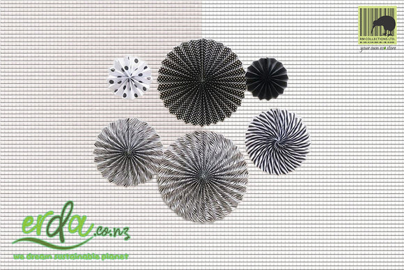 Paper Colour Fans - Black and White