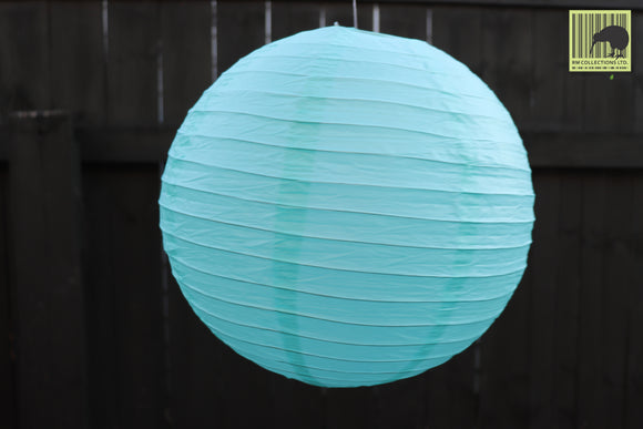 Christmas Decorative Paper Lanterns - Sea Green