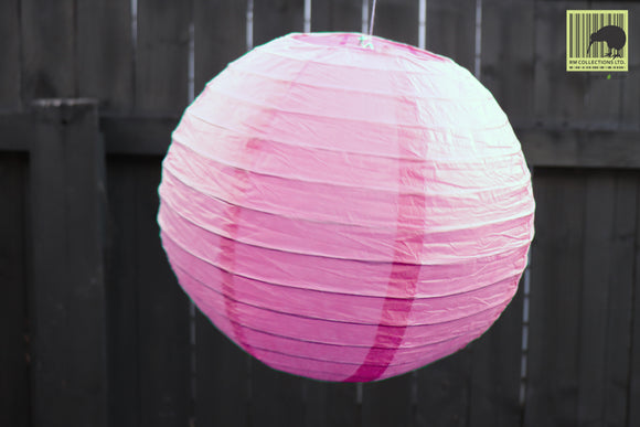 Christmas Decorative Paper Lanterns - Light Pink