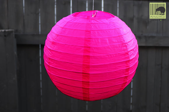 Christmas Decorative Paper Lanterns - Dark Pink
