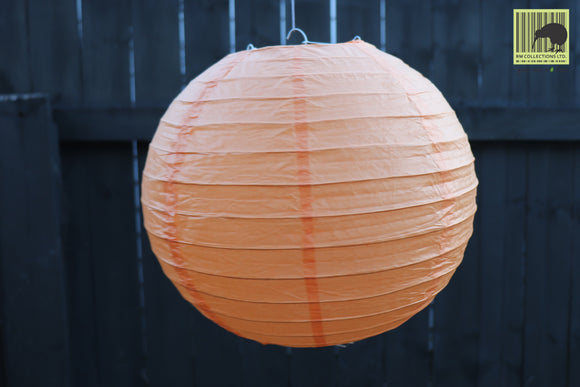 Christmas Decorative Paper Lanterns - Orange
