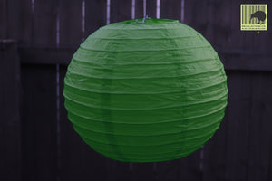 Christmas Decorative Paper Lanterns - Green