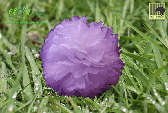 Christmas Decoration Paper Pom Poms - Purple