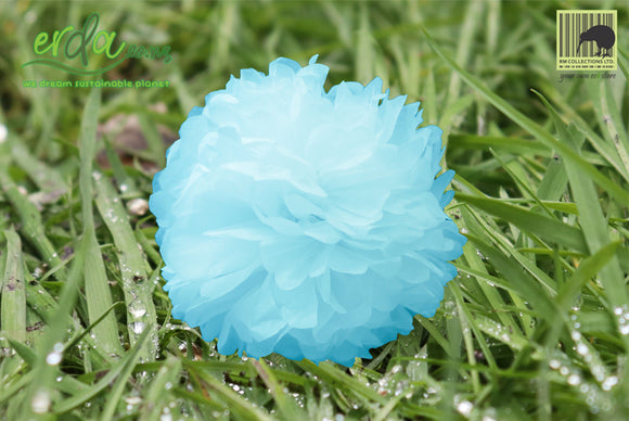 Christmas Decoration Paper Pom Poms - Sky Blue