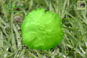 Christmas Decoration Paper Pom Poms - Green