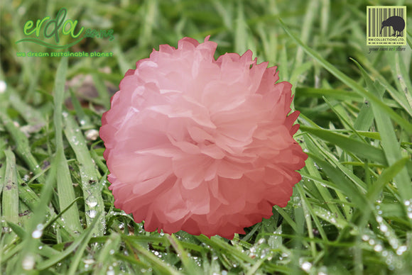 Christmas Decoration Paper Pom Poms - Pink
