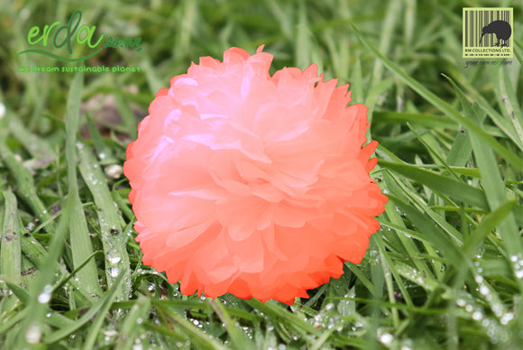 Christmas Decoration Paper Pom Poms - Peach Pink