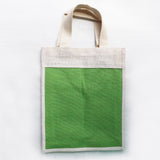 Jute Handbag - Patch Parrot Green