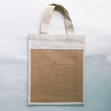 Jute Corporate Bags - Patch LgtBrwn