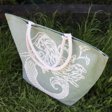 Jute Shopping Bag SeaGrn Mermaid - Big
