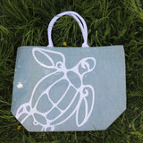 Jute Shopping Bag SeaGrn Tortoise - Big