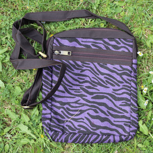 Jute Sling Bag Purple Stripes