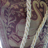 Ethnic Purple & Golden Zari Work Tote Bag - Elephant