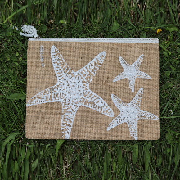 Jute Folder Starfish (Khakhi) - Medium