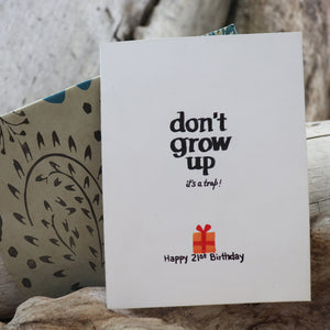 Handmade Birthday card - 21st Birthday greeting card