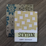 Handmade Birthday card - 16 Birthday greeting card