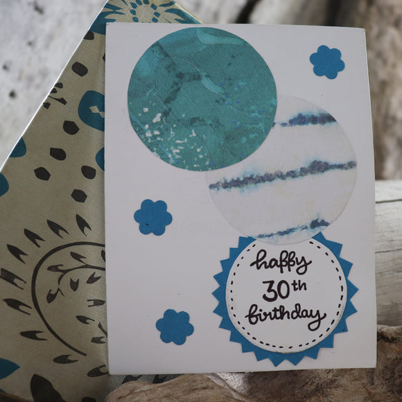 Handmade Birthday card - 30th Birthday greeting card