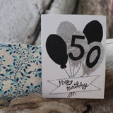 Handmade Birthday card - 50th Birthday greeting card