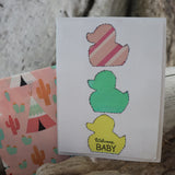 Handmade Baby Shower card - Welcome Baby greeting