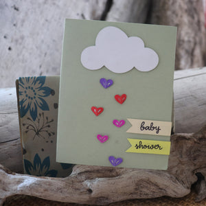Handmade Baby Shower card - Baby Shower greeting