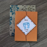 Handmade Baby Shower card - Hey Little One greeting