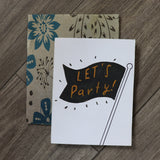 Handmade Celebrations Card - Lets Party Greeting Card